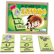 ALFABETO ILUSTRADO EM PORTUGUÊS c/ 78 pçs