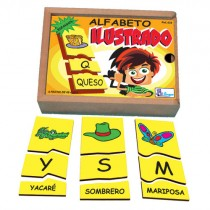 ALFABETO ILUSTRADO EM ESPANHOL c/ 78 pçs