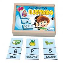 ALFABETO ILUSTRADO EM INGLÊS c/ 78 pçs
